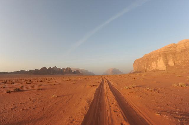 Pustynia w Jordanii